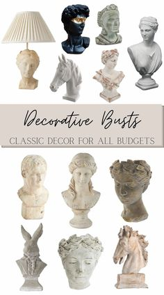 A round-up of the best decorative bust sculptures and bust planters for all budgets for timeless classic home decor.