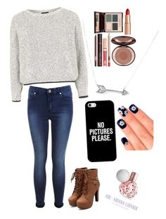 Untitled #52 by amna107 on Polyvore featuring polyvore, fashion, style, Topshop, Miss Selfridge, Adina Reyter, Casetify, Charlotte Tilbury and Elegant Touch