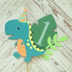 Dinosaur Cake Topper smash cake first birthday by ApplesModernArt