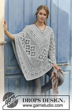 Free Crochet Pattern for Cressida Lace Poncho. Skill Level: Intermediate Crocheted poncho with lace pattern, worked top down. Free Pattern More Patterns Like This! blau Free Crochet Pattern for Cressida Lace Poncho ⋆ Crochet Kingdom Crochet Poncho Patterns, Crochet Shawls And Wraps, Knitted Poncho, Knitting Patterns Free, Free Pattern, Free Knitting, Scarf Patterns, Knitting Machine, Knitted Shawls