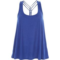 New Look Blue Strappy Swing Vest ($12) ❤ liked on Polyvore featuring outerwear, vests, blue, strap vest, vest waistcoat, blue waistcoat and blue vest