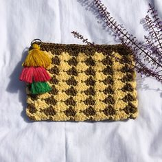 Beautiful crochet purse with tassel cord chain. crafted in the Philippines. Get it now at The Fun Stuff Shop! Basket Bag, Crochet Purses, Beautiful Crochet, Fair Trade, Philippines, Fun, Handmade, How To Wear, Crafts