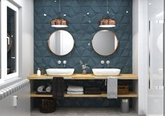 Create a beautiful feature wall with Magna concrete textured tiles the colour shown here is Azul petroleo. Cheap Wall Decor, Tiles Texture, Bathroom Design Luxury, French Home Decor, Home Decor Pictures, Bathroom Inspiration, Home Decor Accessories, Home Remodeling, Living Room Decor