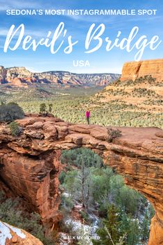 What to expect on the trail to Devil's Bridge Sedona, Arizona, USA - how hard it is, the distance, is it dangerous and the best spots to get that stunning photo. Sedona Arizona, Arizona Travel, Arizona Trip, Phoenix Arizona, Arizona Usa, Usa Travel Guide, Travel Usa, Travel Guides, Travel Tips