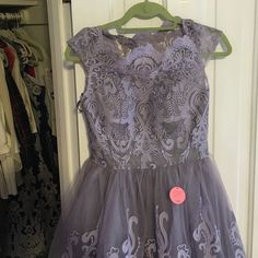 Lilac lace dress size 6 from ASOS, new with tags. Tulle and lace dress, lilac in color UK sz. 10 US sz. 6 runs a bit small Dresses Midi