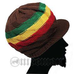 b9680aa7506 Earthtone Cap Hat Reggae Rasta Rastafari Jamaica Sufer Cool Running Marley  S M