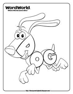 in word world words come alive words save the day and words become a childs best friend welcome to wordworld the first preschool series where words - Word World Coloring Pages