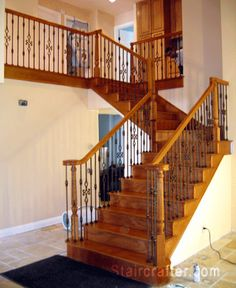Staircase after Custom Decorative Iron remodel