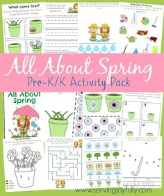 FREE Spring-themed Printable Pack for Pre-k/k ages