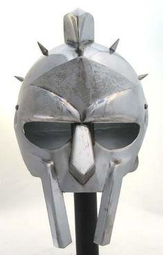 Spiked Greek Gladiator Maximus Helmet, Spartan Helm