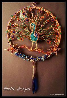 Peacock suncatcher by illustrisdesigns on Etsy