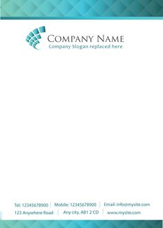 Company Letterhead Template, Letterhead Printing, Company Slogans, Company Names, Letterhead Design Inspiration, Logo Design, Graphic Design, Letter Heads, The 100