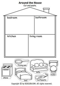Resultado de imagen para worksheets parts of the house