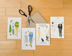 Save the Date Paper Dolls | 36 Cute And Clever Ways To Save The Date