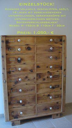 Apothekerschrank, Vollholz - Zirbe, 152cmx110cmx33cm Drawers, Living Room, Furniture, Home Decor, Real Estates, Used Cars, Decoration Home, Room Decor, Set Of Drawers