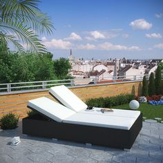 LexMod - Evince Double Outdoor Patio Chaise
