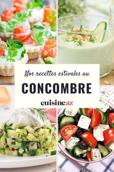 Envie de faire le plein de fraîcheur ? Retrouvez nos meilleures recettes rafraîchissantes à base de concombre Cobb Salad, Potato Salad, Entrees, Potatoes, Parfait, Ethnic Recipes, Food, Cucumber, Salads