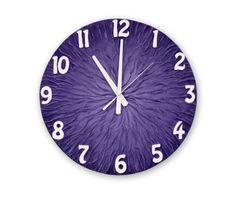 Large WALL CLOCK, Deeep Purple Wall Clock, Unique clock, Modern wall clock