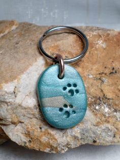 Paw Prints for Sam Key ring handmade from by fancyleafdesigns, $5.00