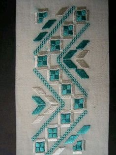 Cutwork Saree, Hardanger Embroidery, Bargello, Filet Crochet, Bookmarks, Embroidery Designs, Needlework, Stitch, Rugs