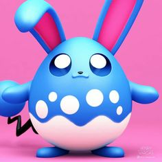 """""""Azumarill the Aqua Rabbit The bubble-like pattern on its stomach helps it camouflage itself when it's in the water. 3d Pokemon, Baby Pokemon, Pokemon Cards, Pokemon Stuff, Cute Pokemon Pictures, Cute Pictures, Pokemon Universe, Friends Wallpaper, Video Game Characters"""