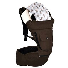 Baby Hipseat Carrier Sling Backpack Carrier Multifunctional Ergonomic Baby Carrier 360 Kangaroo Baby Bag (Coffee) - http://parenting.mugamboglobalresources.com/baby-hipseat-carrier-sling-backpack-carrier-multifunctional-ergonomic-baby-carrier-360-kangaroo-baby-bag-coffee/