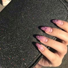 Mysterious Gradient Nails – Page 2 of 7 – Vida Joven - Acrylic nails Nails Polish, Aycrlic Nails, Gradient Nails, Stiletto Nails, Glitter Nails, Galaxy Nails, Almond Acrylic Nails, Best Acrylic Nails, Almond Nails