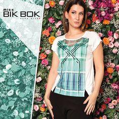 Peça super Chic! e moderna com detalhes em pedraria... Miss Bik Bok, nos tamanhos P,M,G,GG,G1,G2. #missbikbok #plussize #curvy #modagg