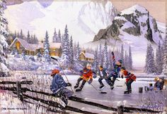 Laird, the He Shoots He Scores wall mural from Murals Your Way will add a distinctive touch to any room. Xmas Pictures, Winter Pictures, Winter Painting, Winter Art, Murals Your Way, Winter Scenery, Christmas Drawing, Vintage Winter, Snow