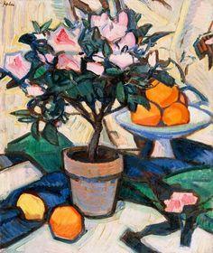 Samuel John Peploe - Roses Azaleas and Oranges