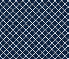 Notre_Dame_Navy_Trellis custom fabric by rick_rack_scissors_studio for sale on Spoonflower