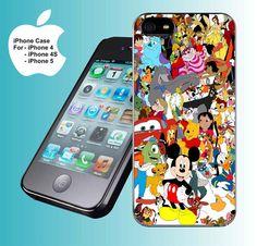 Disney Cartoon Character - iPhone 4 case iPhone 4s case iPhone 5 case hard case on Etsy, $15.79