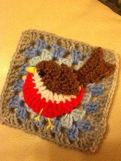 Crochet robin square crochet mood blanket 2014