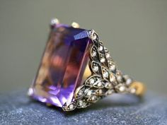 "Cathy Waterman ""Amethyst Winged Creature"" ring"