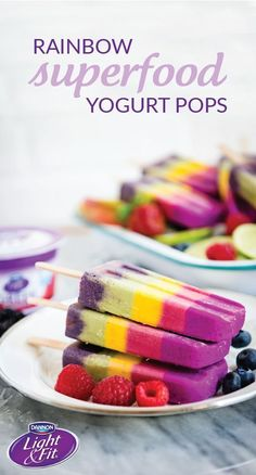 Not only do these Rainbow Superfood Yogurt Pops look simply delicious, they're filled with yummy, good-for you ingredients! Including Raspberry, Strawberry, Banana Cream, Key Lime, Blueberry, & Toasted Coconut Dannon® Single Serve Light & Fit® Greek Yogurt, powdered dragon fruit, beet powder, turmeric, matcha, spinach, spirulina, & acai, it's not hard to see where these frozen treats get their delicious flavors. Pick up all the ingredients you need for this recipe at your local Walmart..