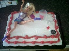 Bachelorette Barbie Cake :)