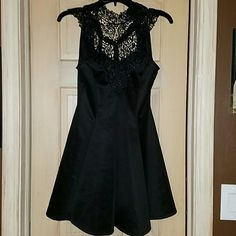 Black lace dress Size 7 Bought at charlotte russe brand new never warn. Perfect condition. Dresses