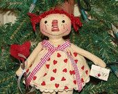 Be Mine Raggedy Ann Ornie Ornament Pattern