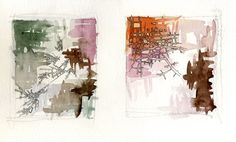 Map drawing sketches