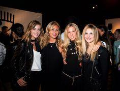 Marina Di Guardo, Giorgia Marin, Elisabetta Pellini and Serena Iaricci at the presentation of the new Chiara Ferragni shoes collection during the Milan Fashion Week, on September 27, 2015 in Milan, Italy.