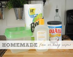 homemade facial or baby wipes