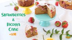 Strawberry Ricotta Cake Recipe +12M Baby Food Recipes, Cake Recipes, Healthy Recipes, Ricotta Cake, Kid Friendly Meals, The Creator, French Toast, Strawberry, Baby Cakes