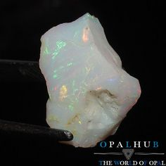 5.10 Cts Natural Ethiopian Welo Fire Opal Rough Gemstone Play of Color 2770