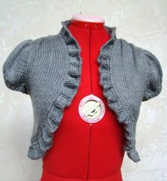 Enjoy using this free knitting pattern for a vintage knit bolero, from Craftown!