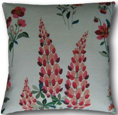 Cushion Covers made in Laura Ashley Fernshaw Cranberry Red Floral Pillows Cushion Covers Uk, Cushion Cover Designs, Pillow Covers, Floral Cushions, Traditional House, Traditional Cushions, Red Pillows, Red Fabric