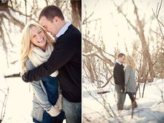 Wisconsin winter engagement, winter engagement inspiration, Emily Steffen, engagement scarves, Wisconsin wedding