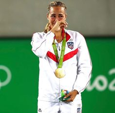 Monica Puig wins the gold medal in singles at the Rio 2016 Olympic Games