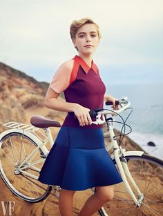 Mad Men's Kiernan Shipka with our cream Mixte shot for Vanity Fair by Williams & Hirakawa