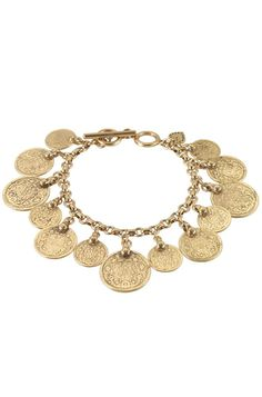 Antiqued gold plated coins are hand crafted to achieve an authentic aged finish.    stelladot.com/Tampa