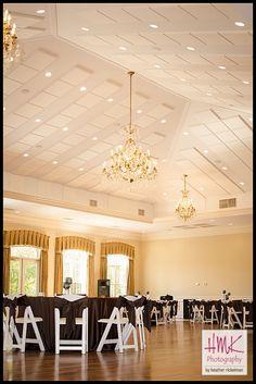 We love chocolate brown linens!!  Photo Credit: HMK Photography  Michelle_DJ_Magnolia_Room_Wedding0001